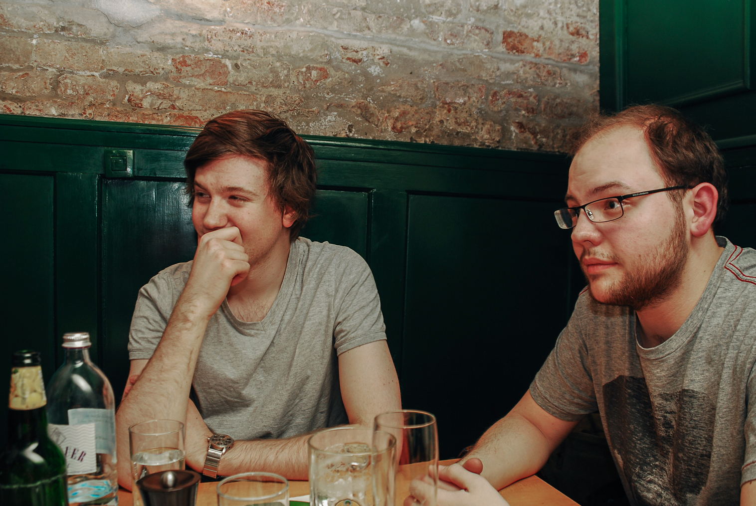 Tom and myself hearing stories from Ian